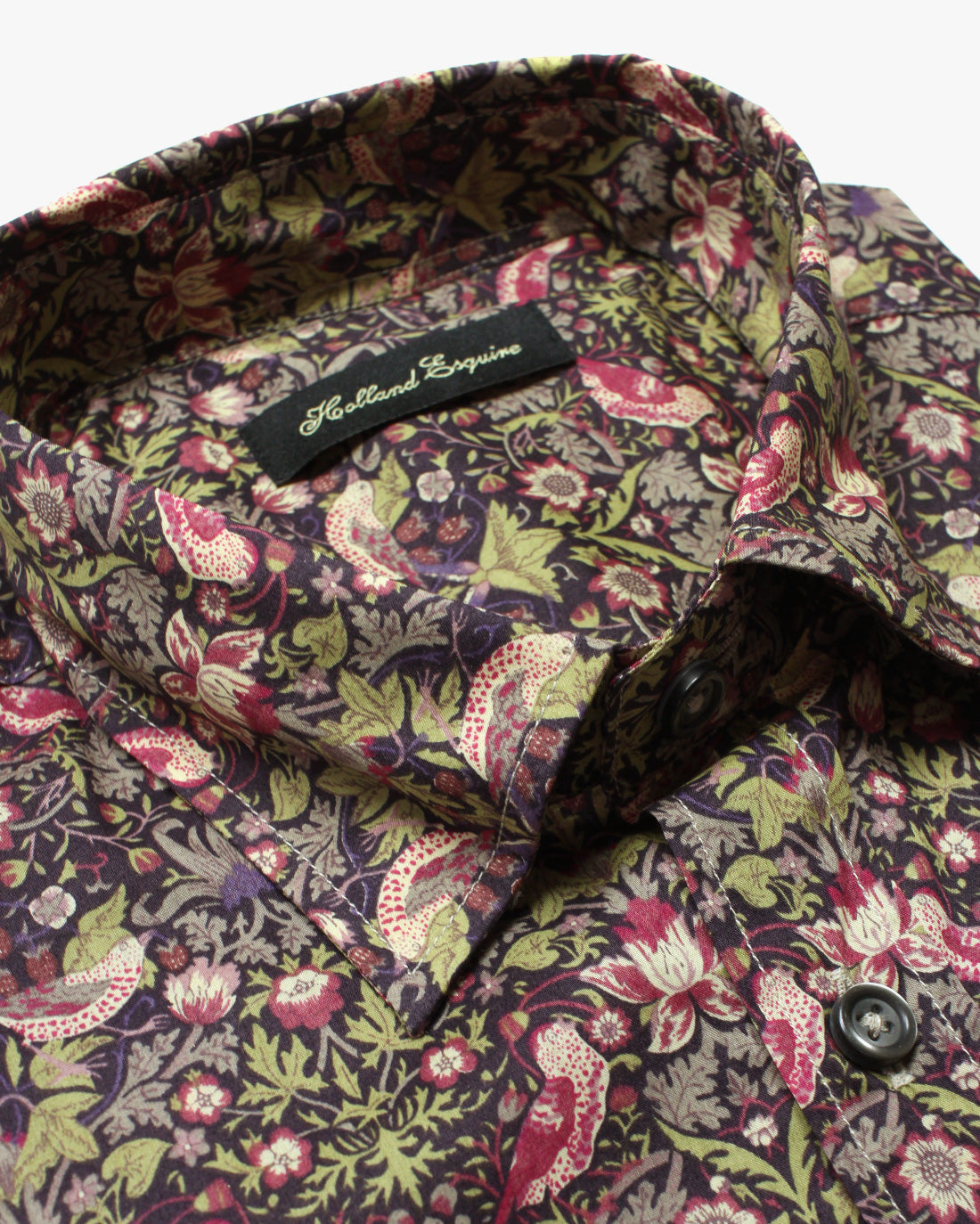 Khaki Liberty Night Flower Button Under Shirt