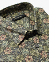 Green Liberty Flowers Button Under Shirt - Holland Esquire