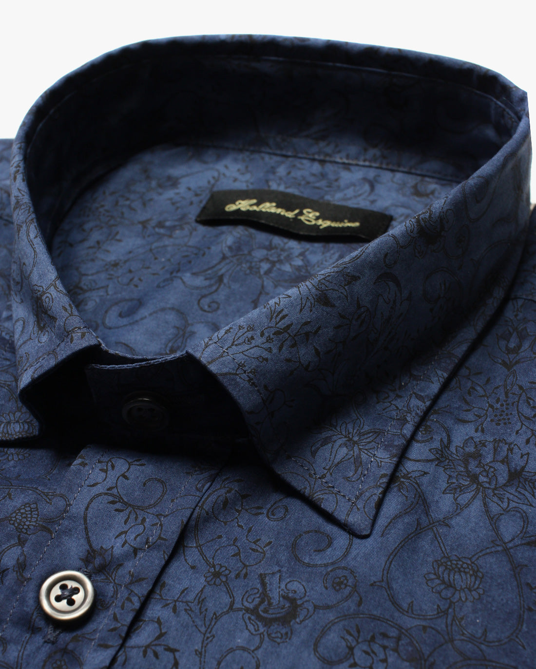 Navy Liberty Vines Button Under Shirt - Holland Esquire
