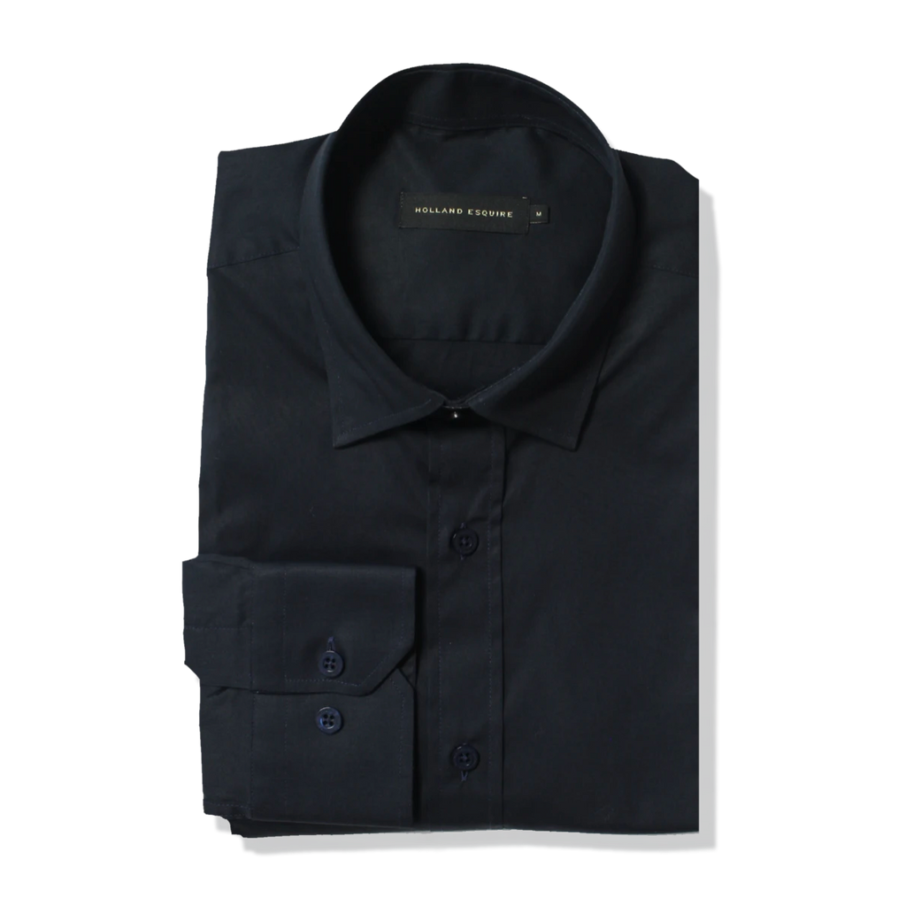 The Navy Poplin Shirt
