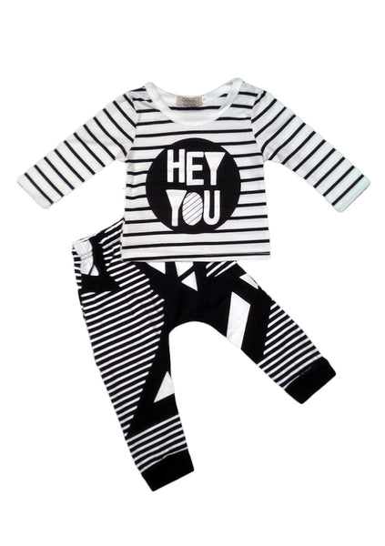 'Hey You' Long Sleeve Top & Pants Set