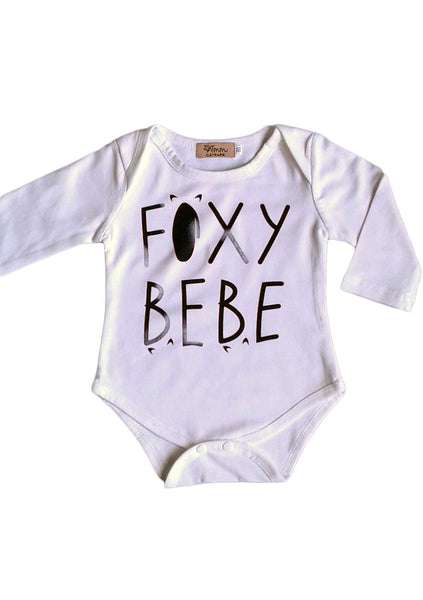'Foxy Bebe' Long Sleeve Romper