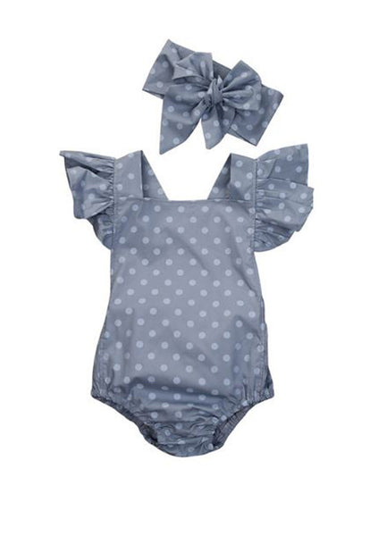 'Polka Polka' Romper with a Headband