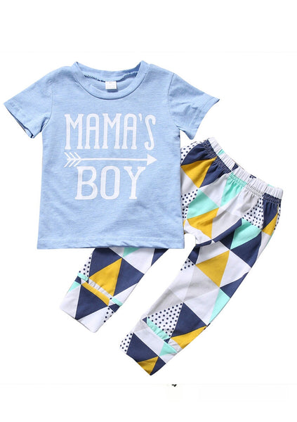 'Mamas Boy' Short Sleeve T-Shirt and Pants Set