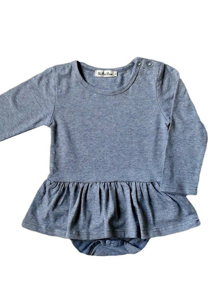 Grey Long Sleeve TuTu Jumpsuit