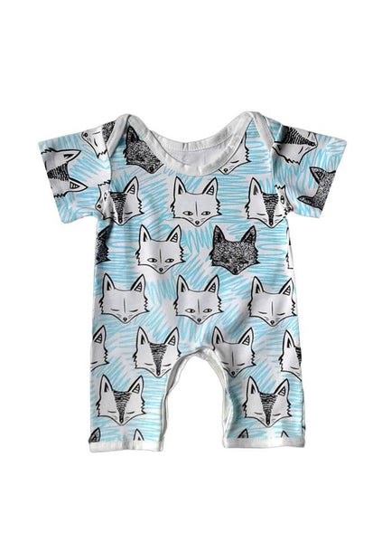 Short Sleeve Fox Romper