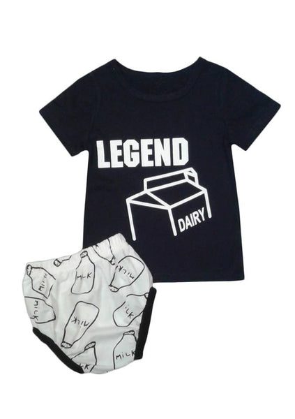 'Legend' Short Sleeve T-Shirt & Pant Set
