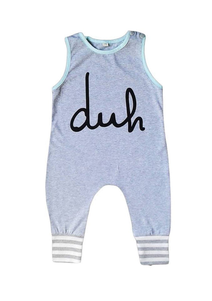 Cheeky 'duh' sleeveless romper