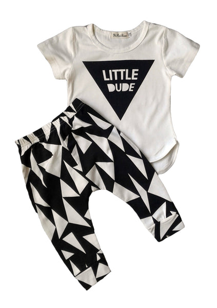 'Little Dude' T-Shirt and Pants Combo