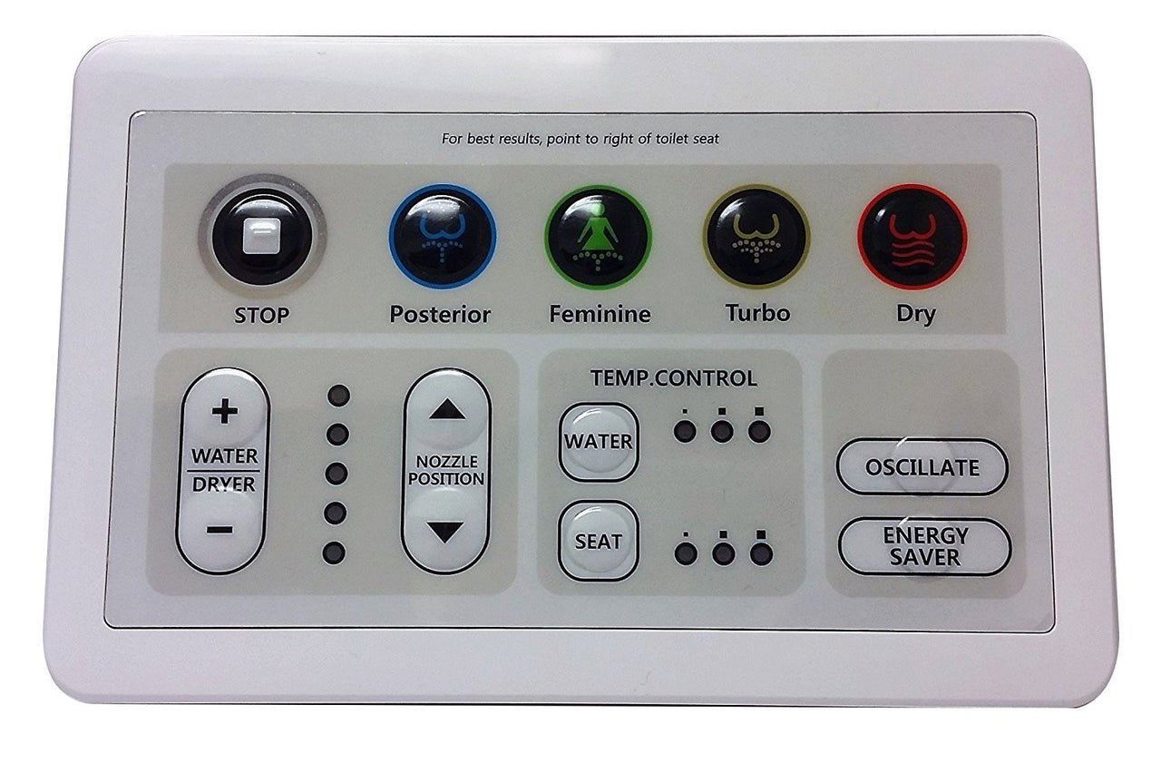SmartBidet SB-1000 Bidet Electronic Toilet Seat Big Remote replacement - Extra Large Button