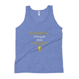 RUNNING CHEAPER THEN THERAPY  Tank Top