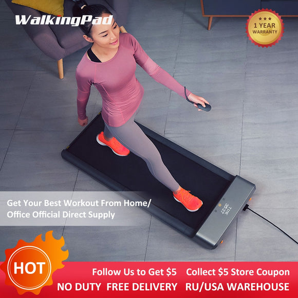 Hot WalkingPad A1 Foldable Treadmill Home Save Space Smart Electric Jog Walk Aerobic Sport Fitness Equipment Xiaomi Ecosystem