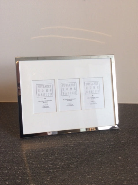 Carde photo Silver plated 3 photo