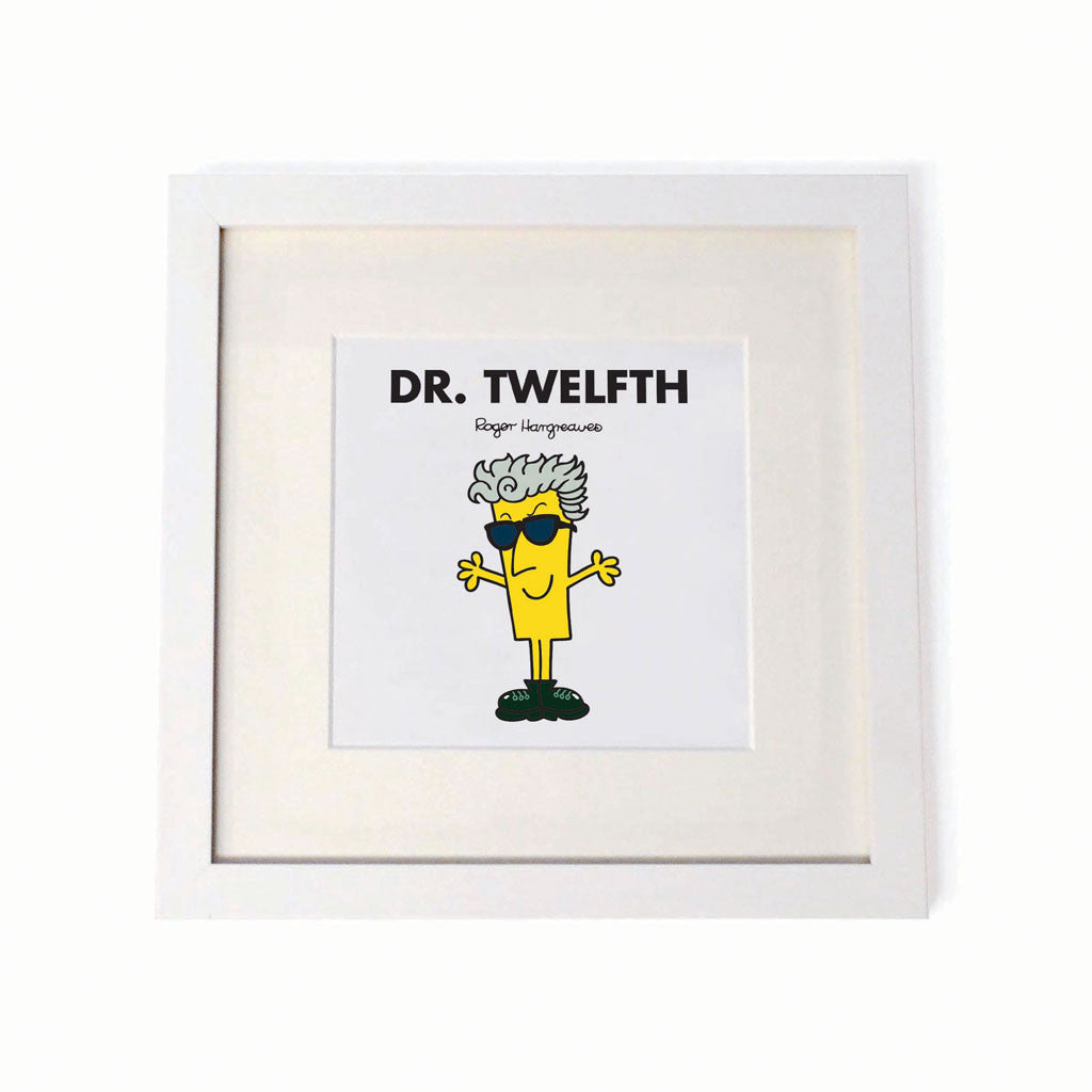 Dr. Twelfth White Framed Print