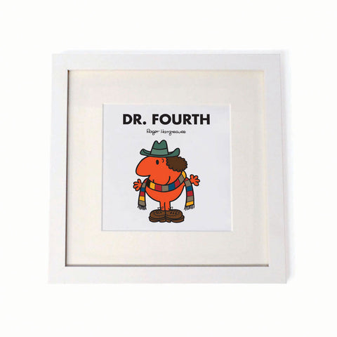 Dr. Fourth White Framed Print