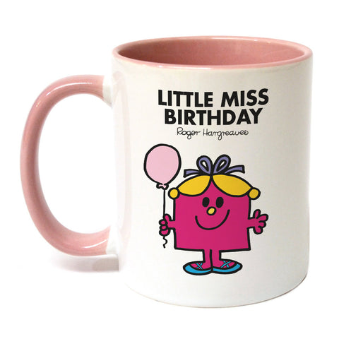Little Miss Birthday Large Porcelain Colour Handle Mug