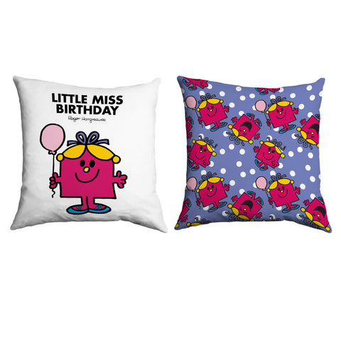 Little Miss Birthday Micro Fibre Cushion