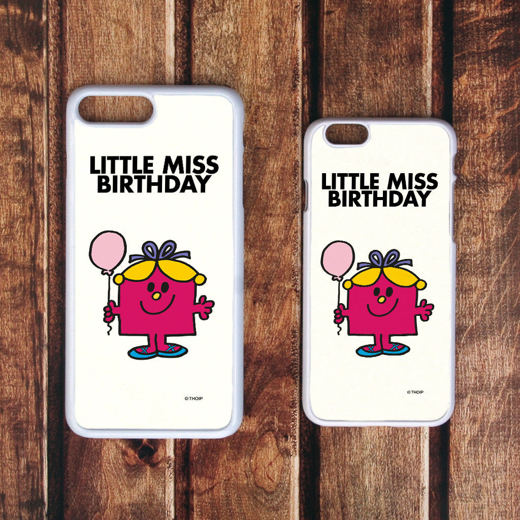 Little Miss Birthday White Phone Case (Lifestyle)