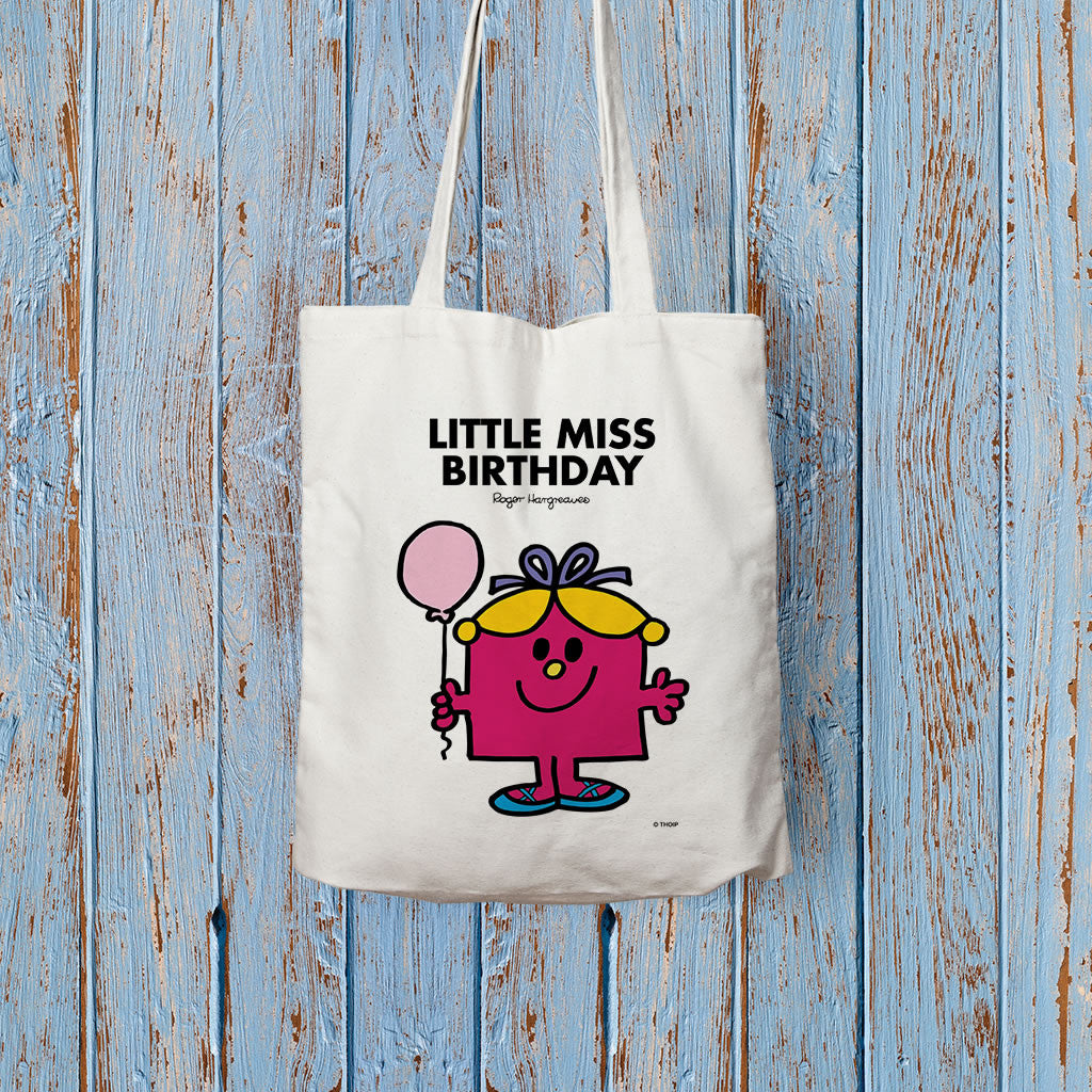 Little Miss Birthday Long Handled Tote Bag (Lifestyle)