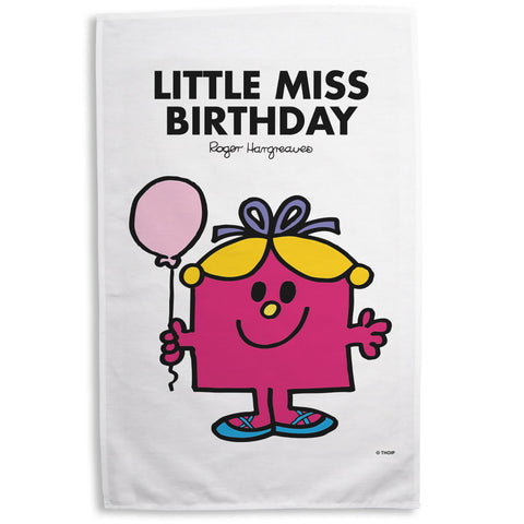 Little Miss Birthday Tea Towel