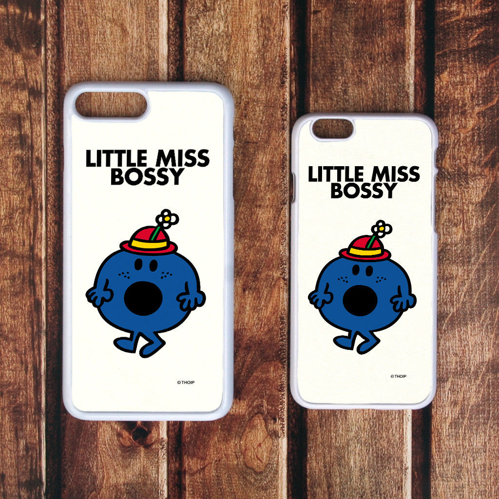 Little Miss Bossy White Phone Case (Lifestyle)