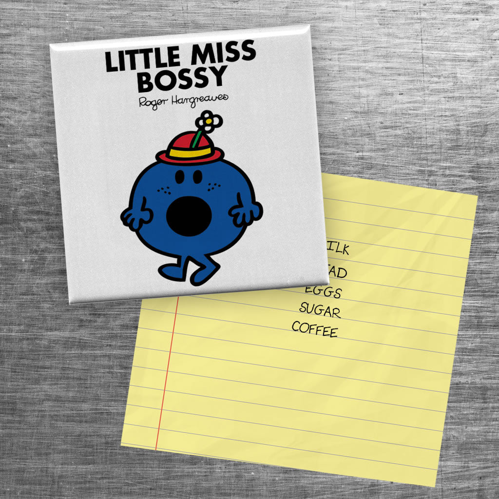 Little Miss Bossy Square Magnet (Lifestyle)