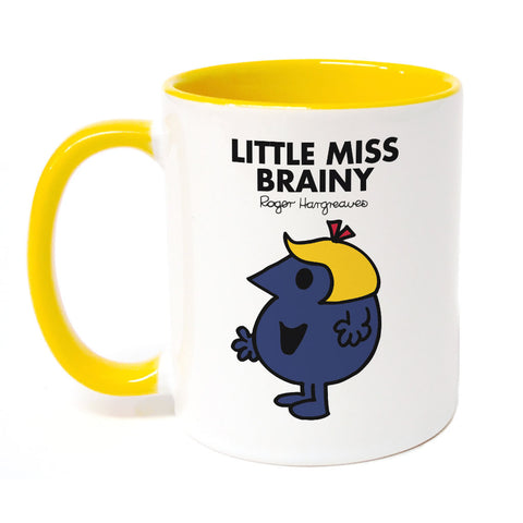 Little Miss Brainy Large Porcelain Colour Handle Mug