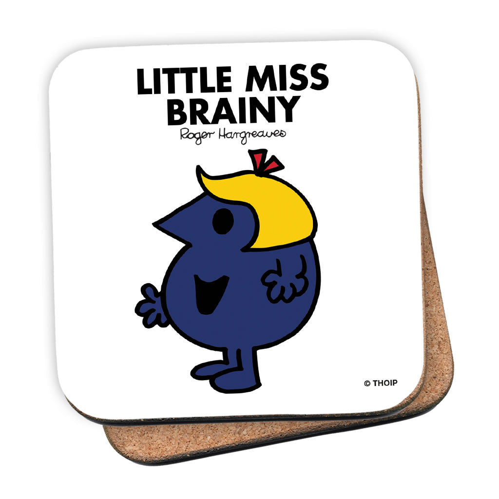Little Miss Brainy Cork Coaster