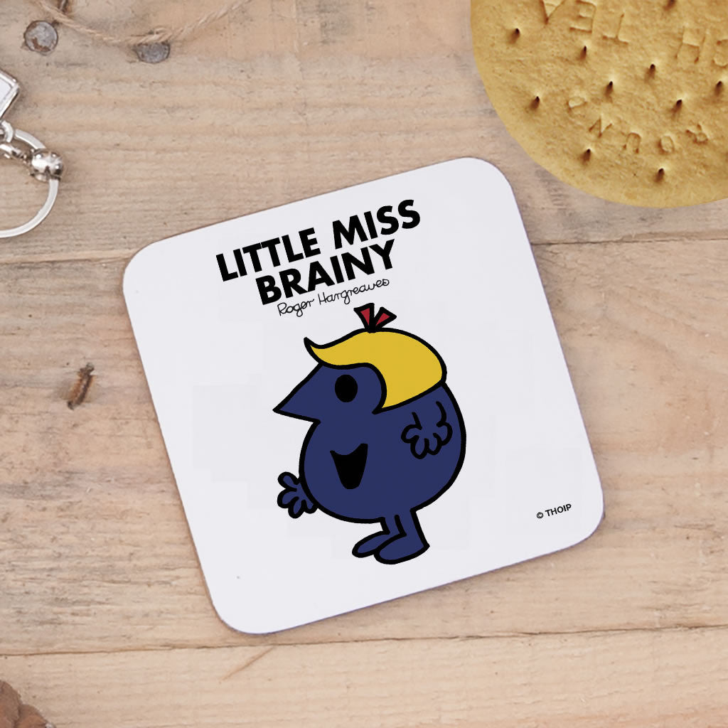 Little Miss Brainy Cork Coaster (Lifestyle)