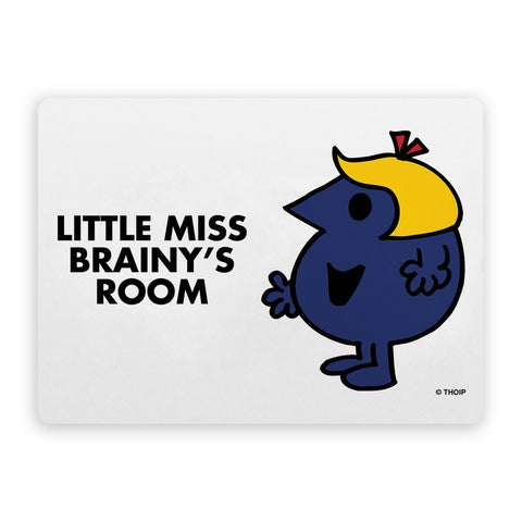 Little Miss Brainy Door Plaque