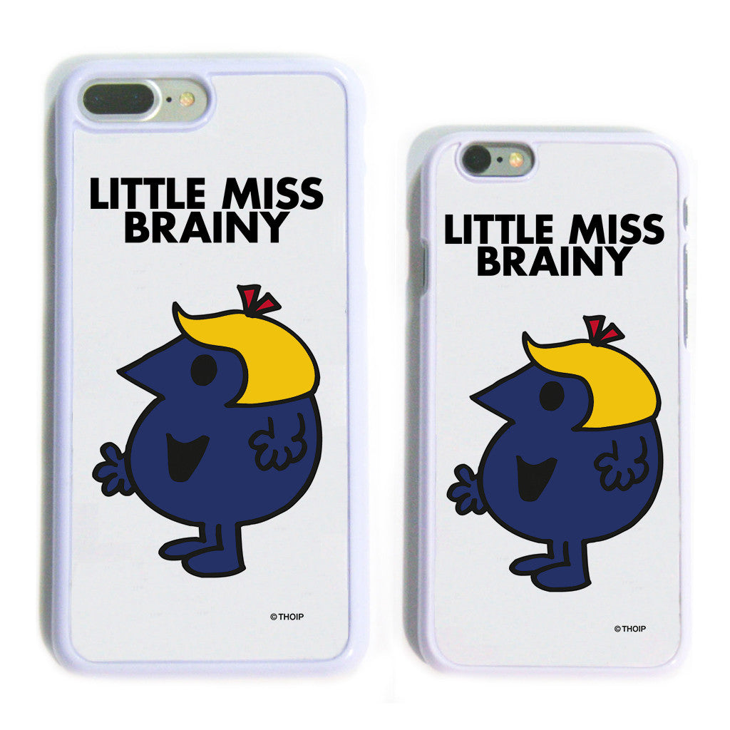 Little Miss Brainy White Phone Case