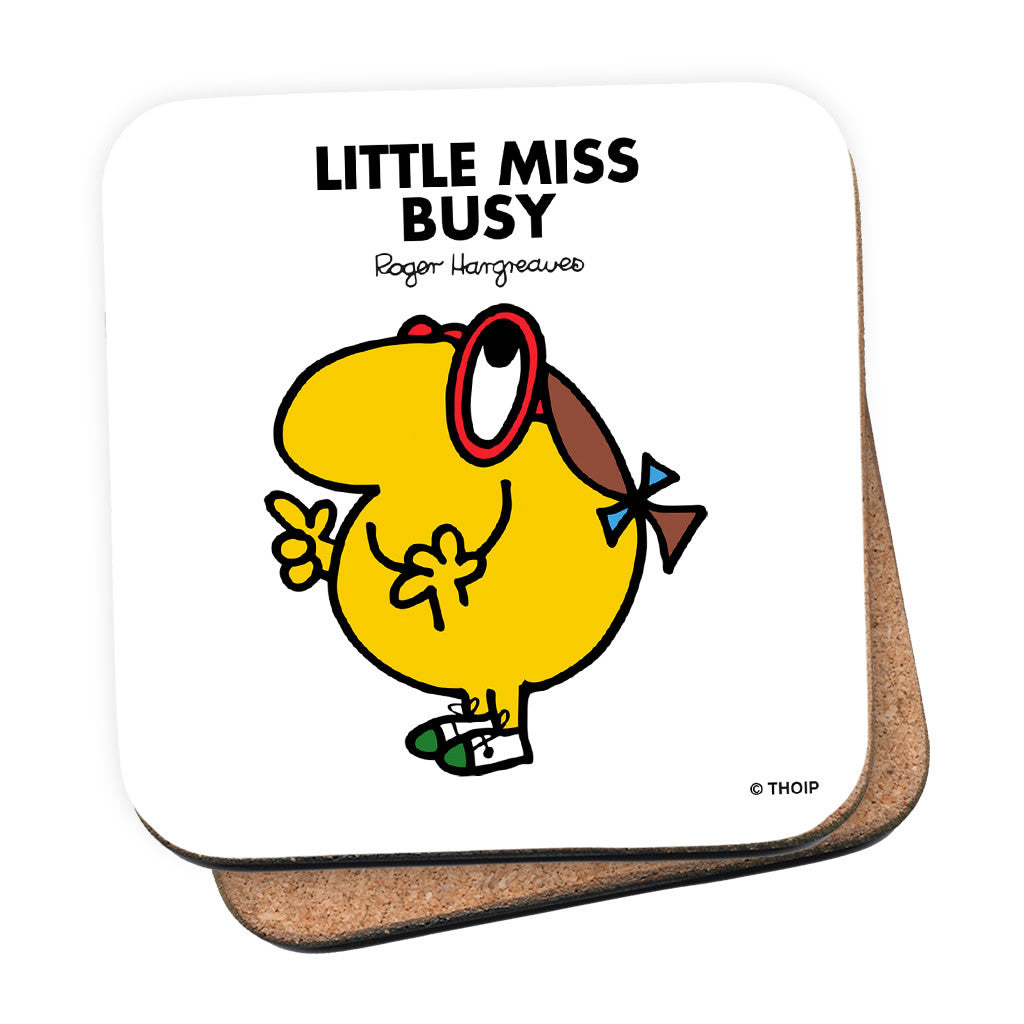 Little Miss Busy Cork Coaster