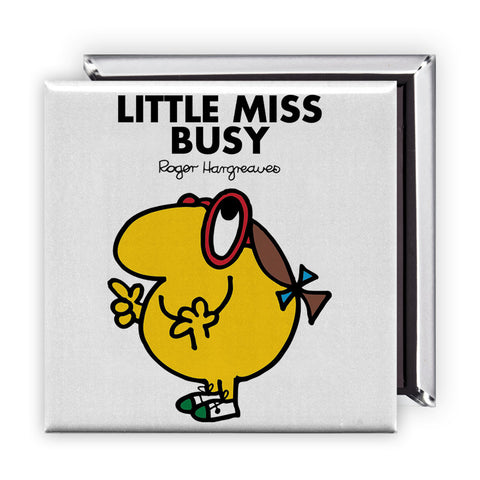 Little Miss Busy Square Magnet