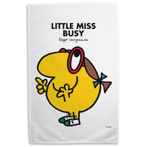 Little Miss Busy Tea Towel