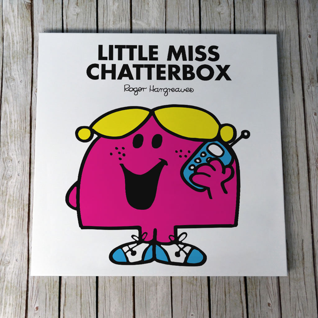 Little Miss Chatterbox Canvas (Lifestyle)