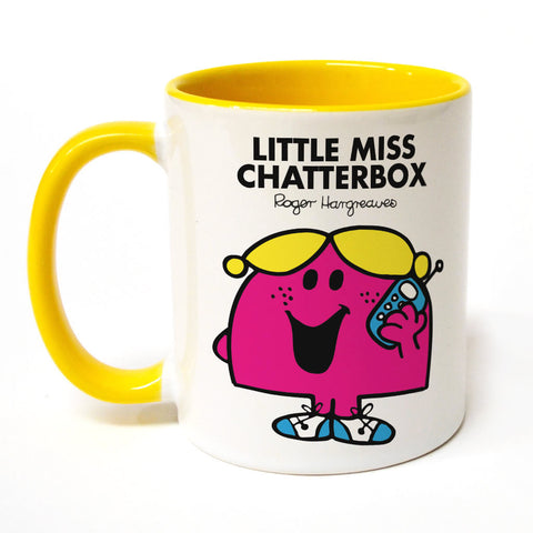 Little Miss Chatterbox Large Porcelain Colour Handle Mug