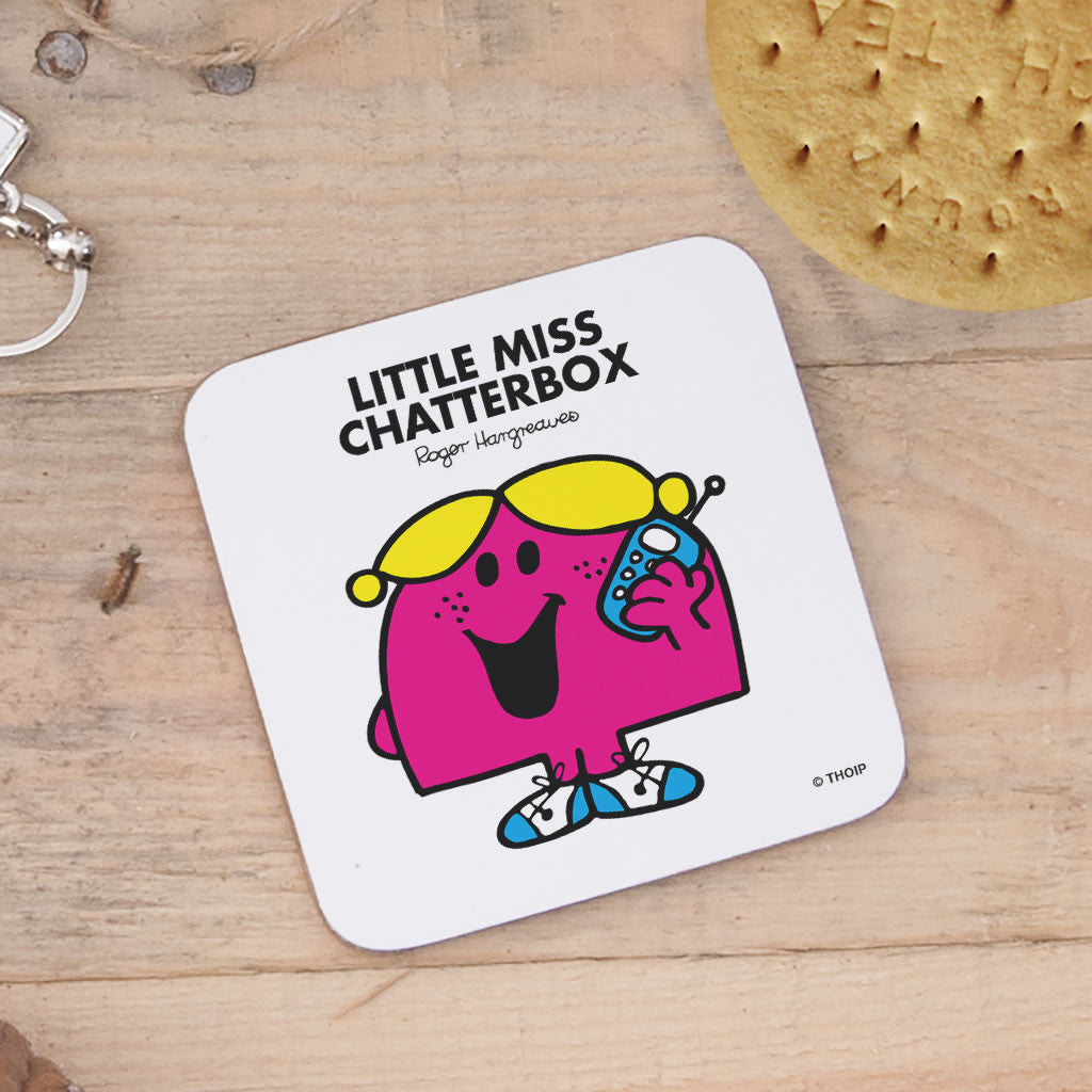 Little Miss Chatterbox Cork Coaster (Lifestyle)