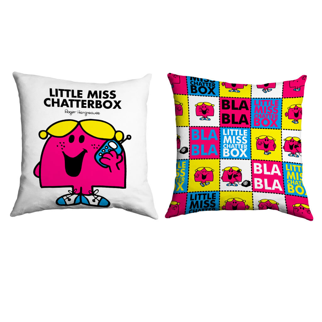 Little Miss Chatterbox Micro Fibre Cushion