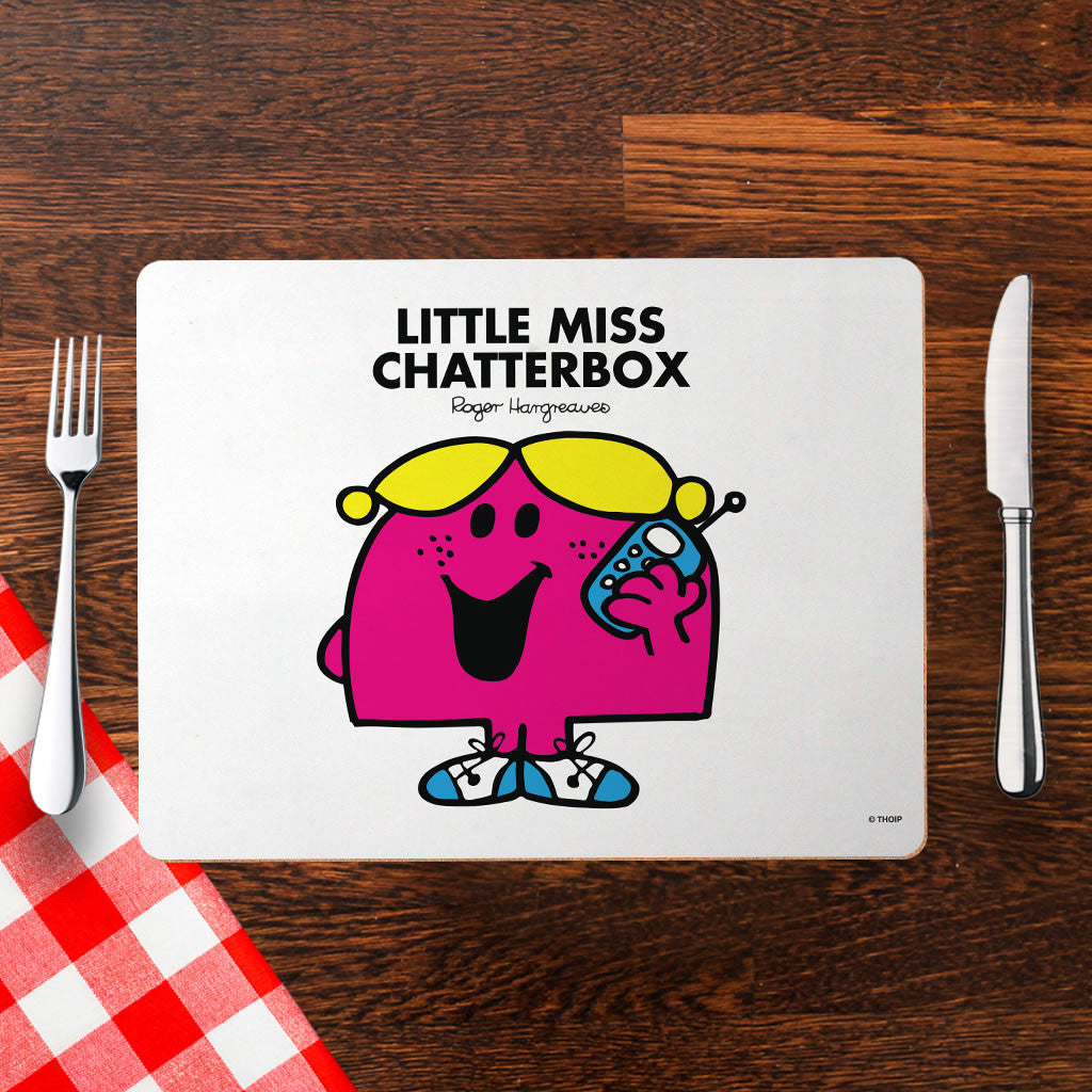Little Miss Chatterbox Cork Placemat (Lifestyle)