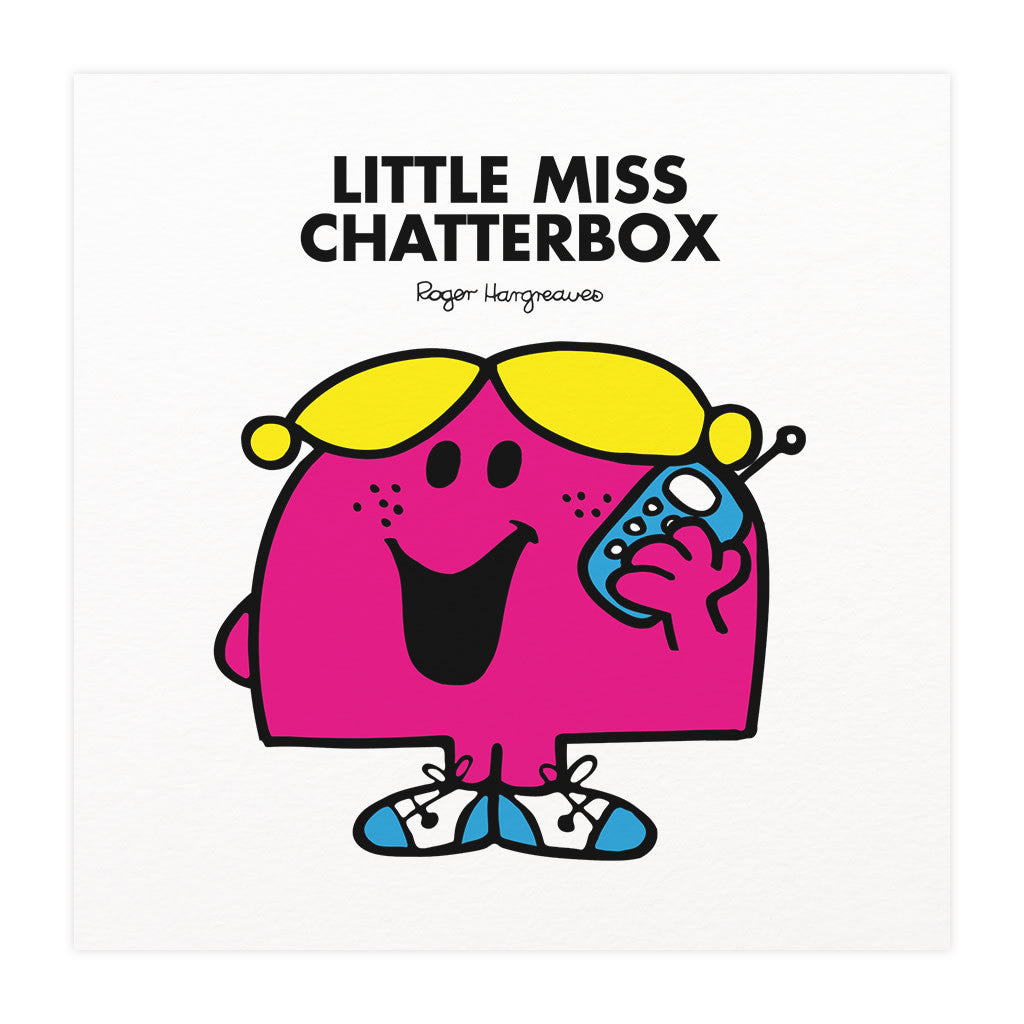 Little Miss Chatterbox Mounted Art Print