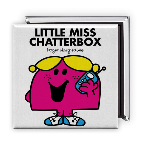 Little Miss Chatterbox Square Magnet