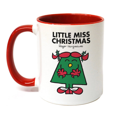 Little Miss Christmas Large Porcelain Colour Handle Mug