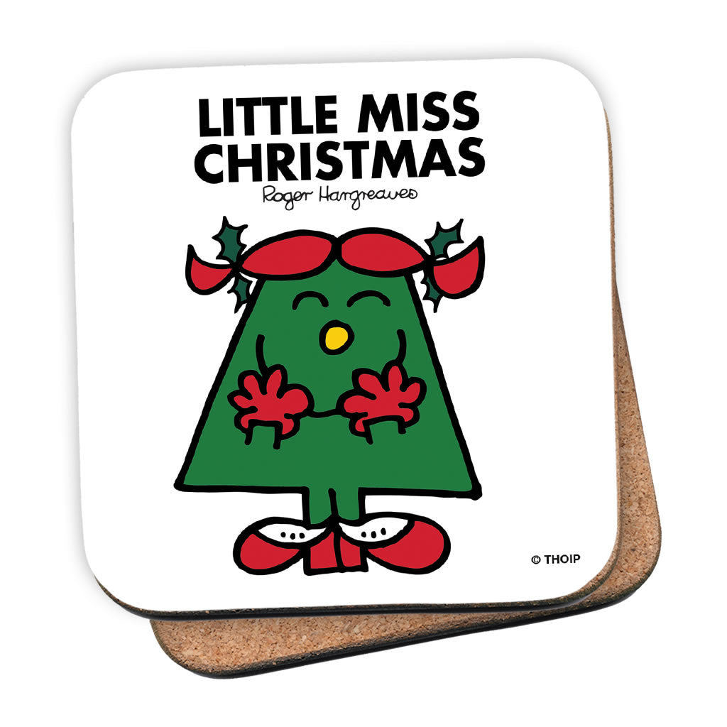 Little Miss Christmas Cork Coaster