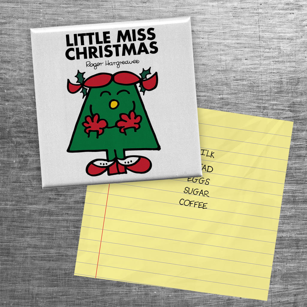 Little Miss Christmas Square Magnet (Lifestyle)