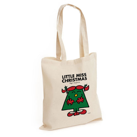 Little Miss Christmas Long Handled Tote Bag