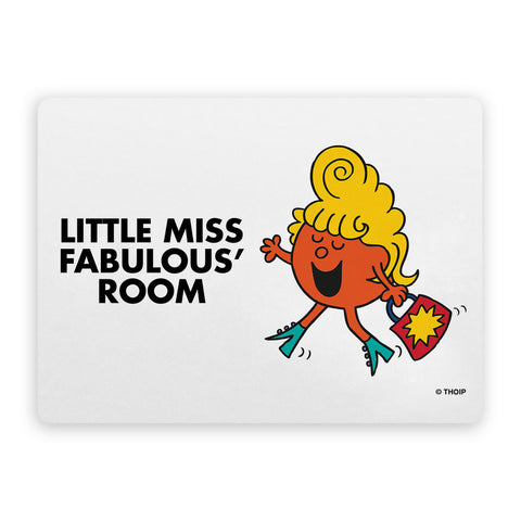 Little Miss Fabulous Door Plaque