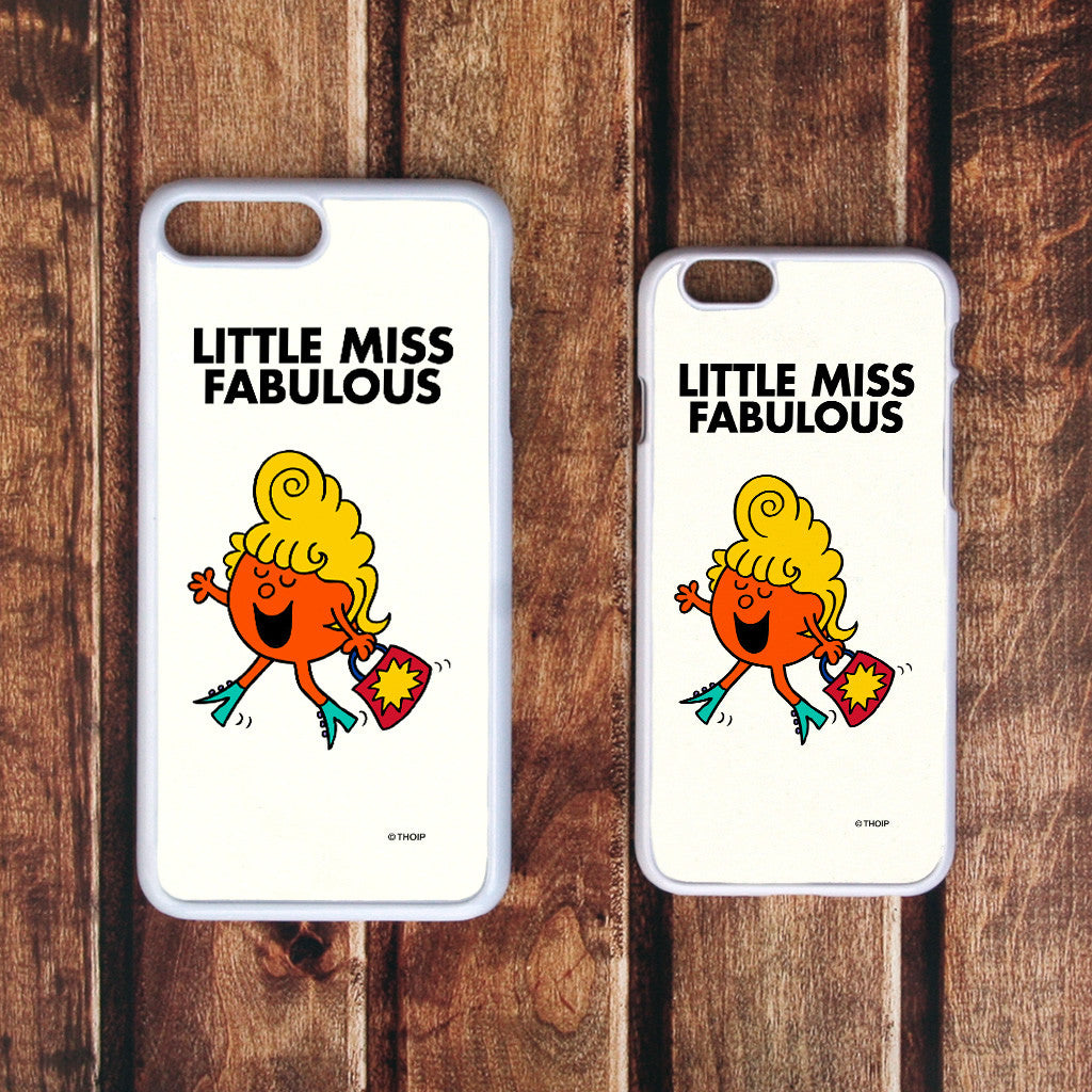 Little Miss Fabulous White Phone Case (Lifestyle)