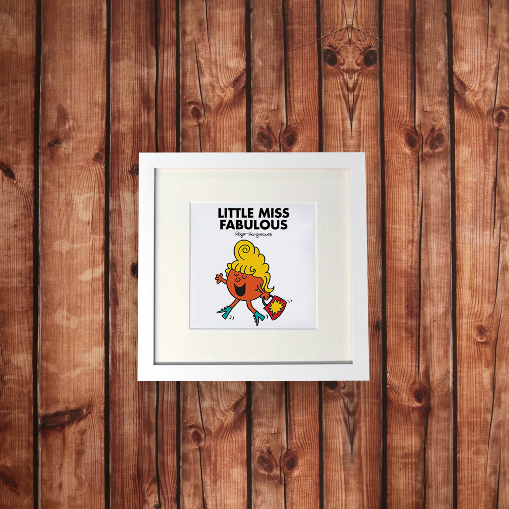 Little Miss Fabulous White Framed Print (Lifestyle)