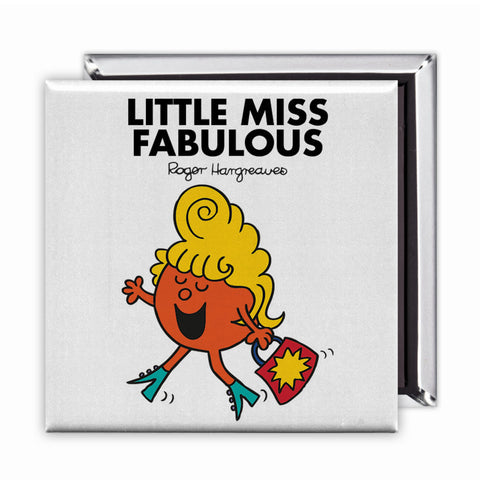 Little Miss Fabulous Square Magnet