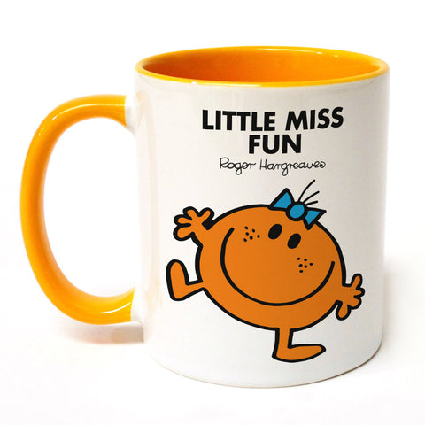 Little Miss Fun Large Porcelain Colour Handle Mug